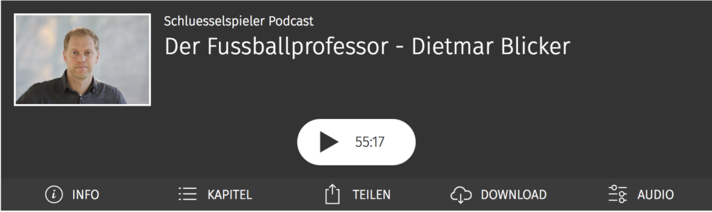 Der Fussballprofessor - Dietmar Blicker im schluesselspieler Podcast